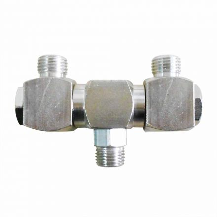 Interstate Pneumatics FS244 1/4 Inch Male NPT Double Swivel Fitting 360 Degree Spin