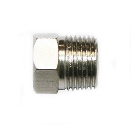 Interstate Pneumatics FPP61S Steel Hex End-Plug 3/8 Inch NPT Male